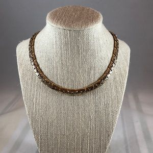 Jewelry - Vintage 2 tone gold plated necklace 16 inches